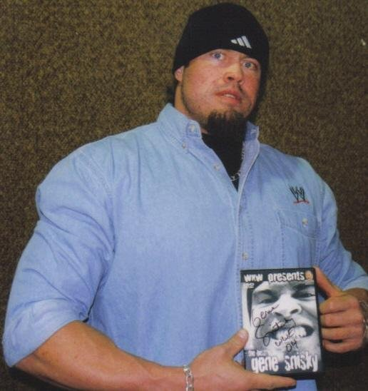 Gene Snitsky with his WXW Best of Snitsky DVD